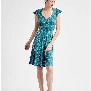 Leota Lula knit Dress Ocean Depths Confetti Dot 3L